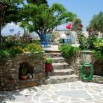 The entrance of the garden